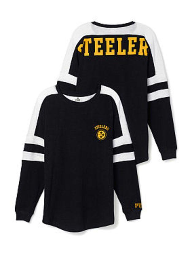 Pittsburgh Steelers Pocket Varsity Crew - PINK - Victoria s Secret ... 983ee2eaa