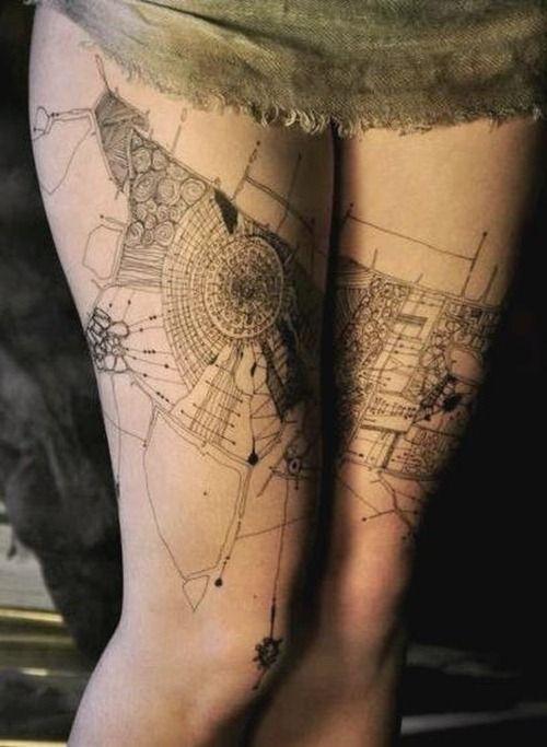 Galería de 118 impresionantes tatuajes de arquitectura - 6 ...
