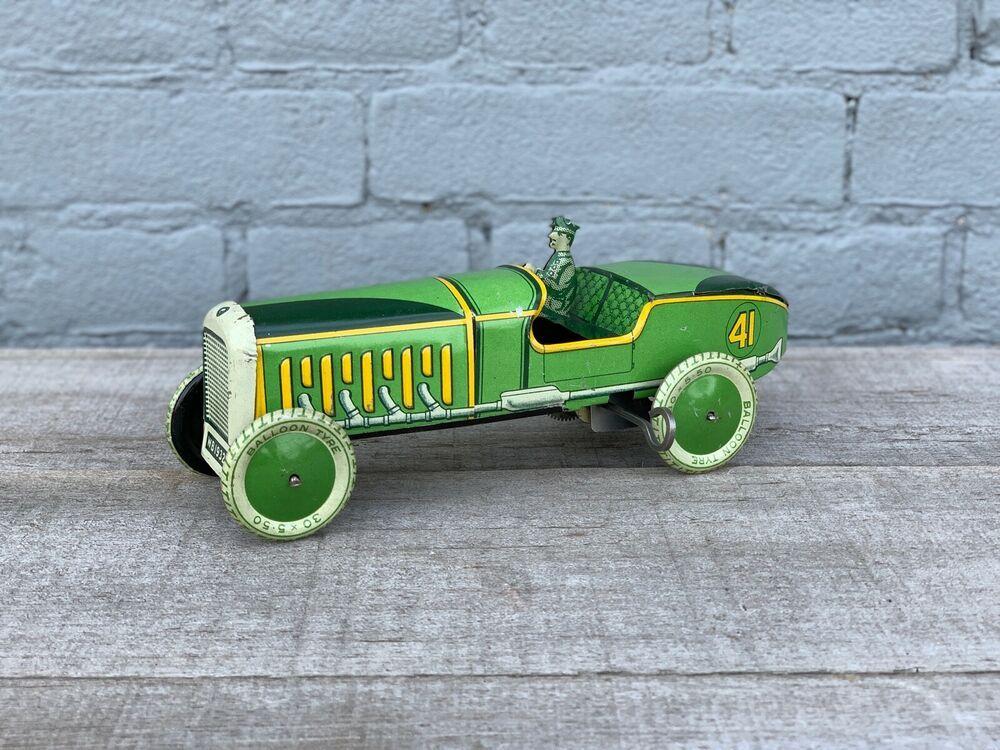 Rare Wells O London England Tin Wind Up Wb1932 Racer Racing Car 1932 Tippco Wellsolondon