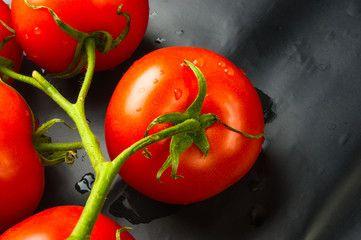 stilllife - tomatoes on twig
