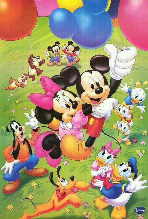 """""""Mickey y sus amigos celebrando"""""""