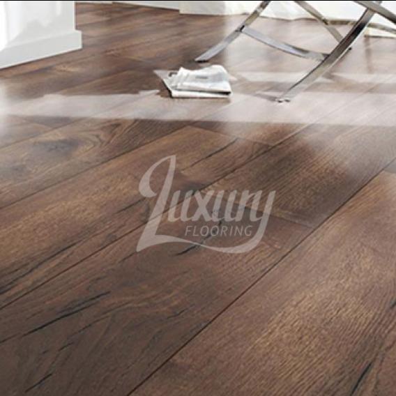 Nest 10mm Narrow Plank Landerson Dark Oak Laminate Flooring