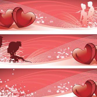 Banners de San Valentín