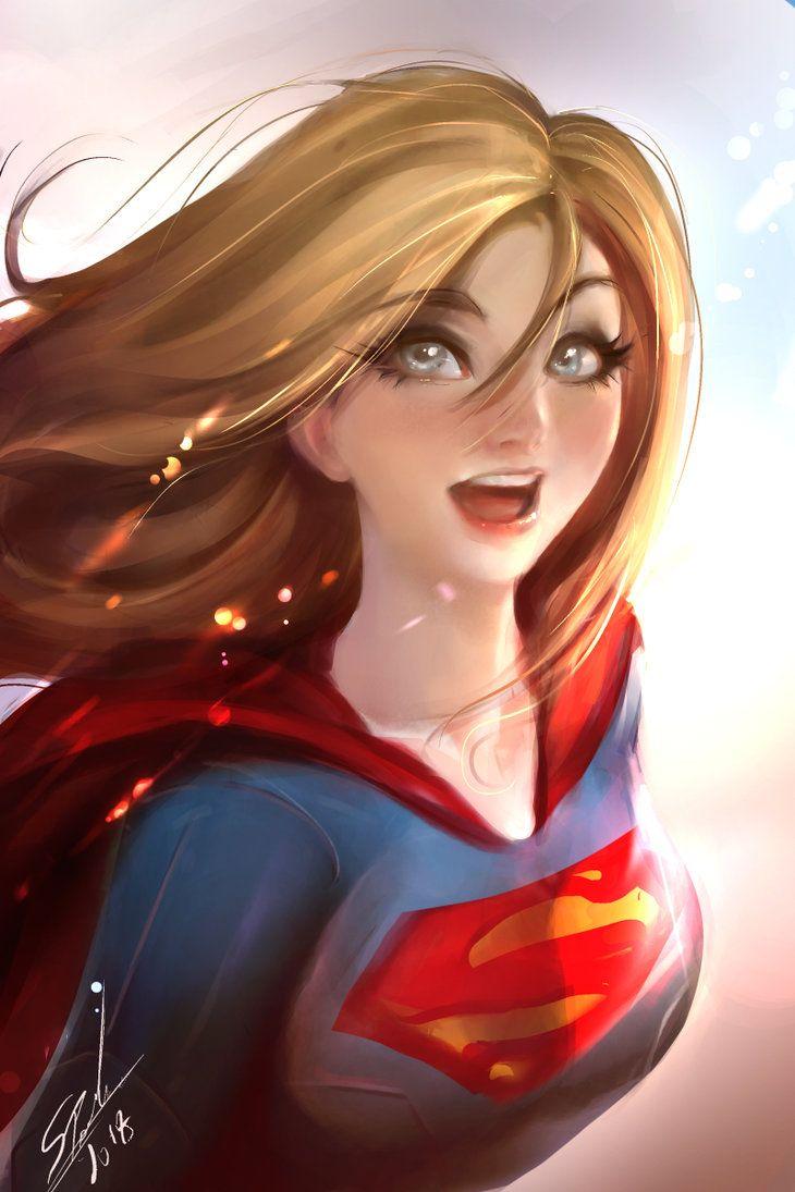 نتیجه تصویری برای super girl fanart