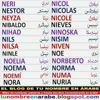 Tu Nombre En Arabe Nombres En Arabe Tatuajes En Arabe Tatuajes Letras Arabes