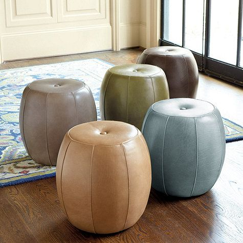 leather pouf leather pouf poufs and ottomans. Black Bedroom Furniture Sets. Home Design Ideas