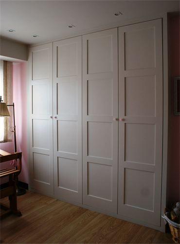 Armario blanco abatible lac 300 puertas jemofer for Armarios empotrados blancos