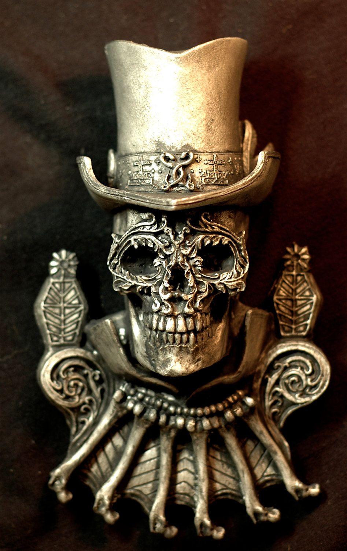 Baron Samedi  (Lord of the Dead). $30.00, via Etsy.