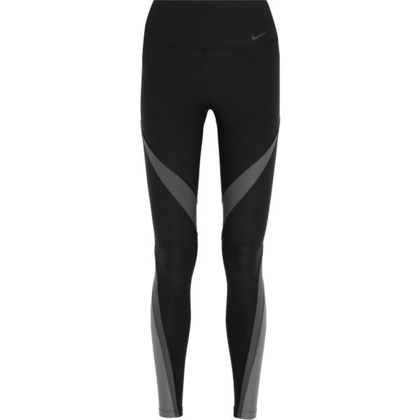 a3af78c7f4f7b7 Nike Power Legend Twist stretch-jersey leggings ($81) ❤ liked on Polyvore  featuring activewear, activewear pants, leggings, pants, workout, nike,  black, ...
