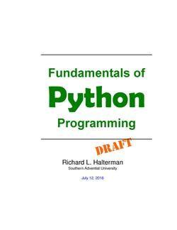 Fundamentals of Python Programming | Eduinformer Education Board