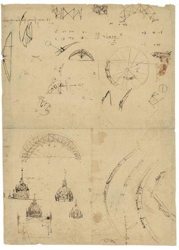 Leonardo da Vinci, Studies for the Dome and Lantern of Milan