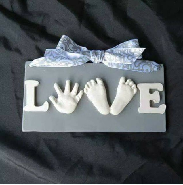 Diy Hand And Foot Print Love Sign D I Y Baby Hands