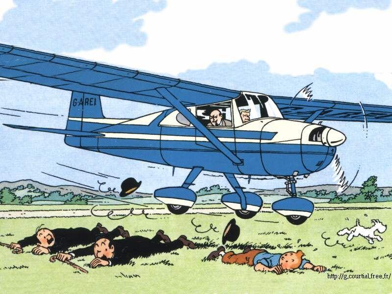 La Isla Negra - Avioneta Cessna 170 | Tintin. en 2019