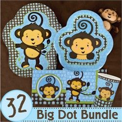 monkey boy baby shower party supplies go to http www modern baby