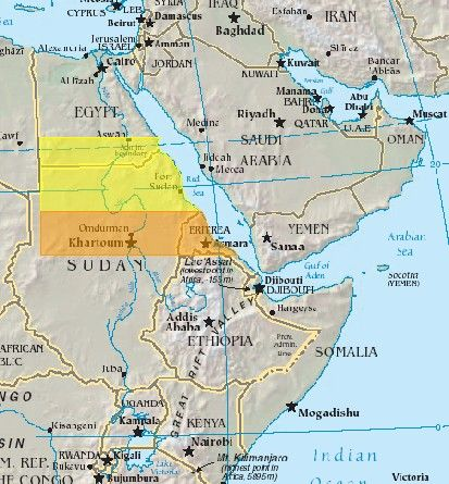 Possible locations of cushp showing the land south of syene this author thinks cush is in asiap showing an impossible river course if cush is ethiopia gumiabroncs Choice Image