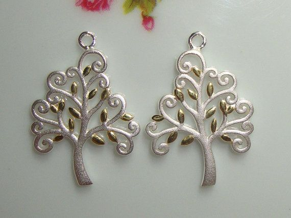 So Beautiful 1 Tree Handmade 3D Semi Matte 925 by TerraFinds, $12.90