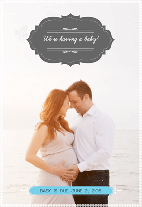 free pregnancy announcement template