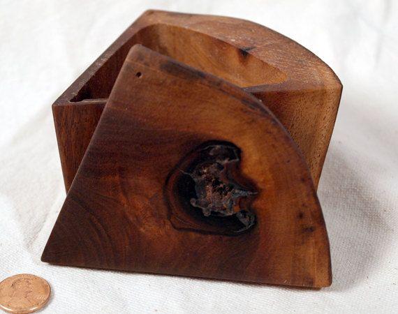 Walnut Wedge Box  Handmade Trinket Box Gift by FolkloreTreasures, $22.50