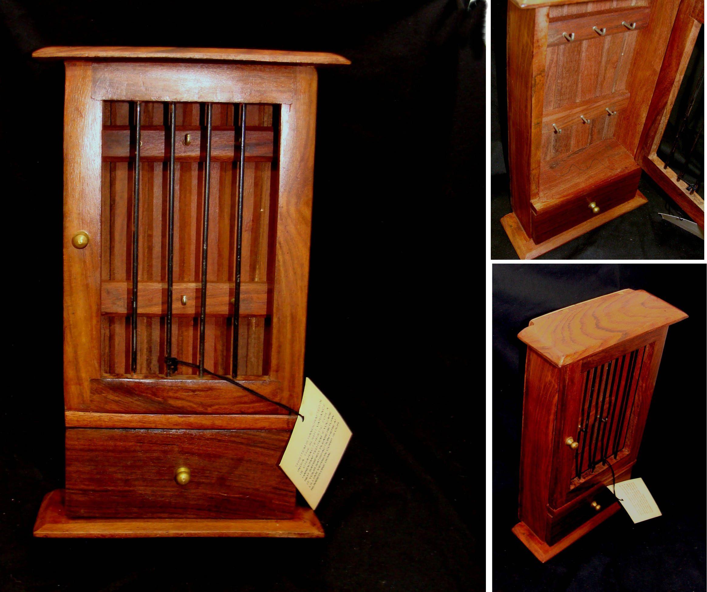 Vintage Wood Box Unique Jail Cell Box Wooden Key Holder Box Southwest Decor Vintage Southwestern Box Father Vintage Wood Box Vintage Wood Wooden Key Holder