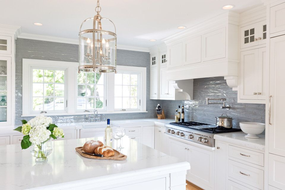 Lewis Weldon Kitchenideas Beautifulkitchens Customcabinets Capecod Ca Classic White Kitchen White Tile Kitchen Backsplash Backsplash For White Cabinets