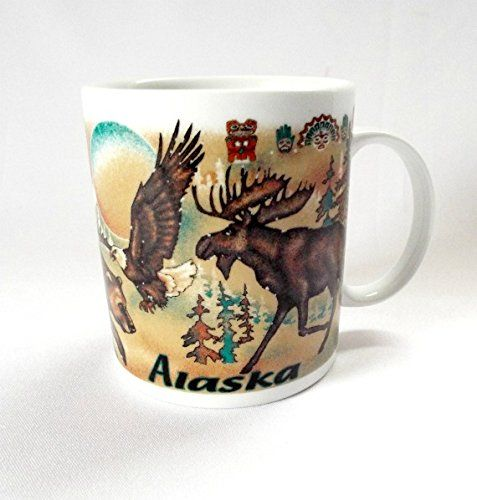 Alaska Coffee Mug Moose Bear Eagle 10 Oz Https Www Amazon Com Dp B00xzg8zrq Ref Cm Sw R Pi Dp R8wxxbcd6cjpx Moose Mug Mugs Eagle Totem