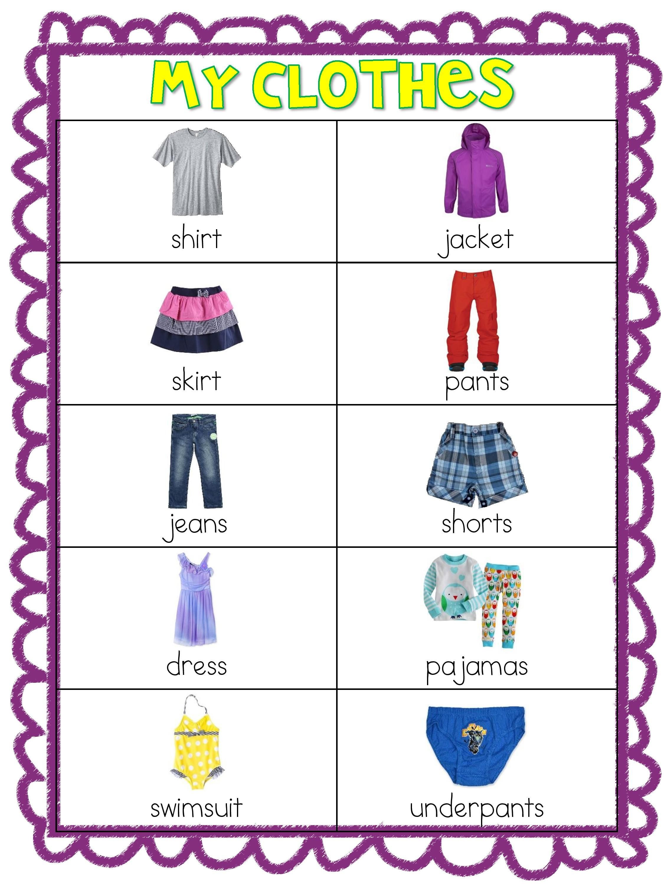 Set 1 Adjectives Clothes Food Prepositions