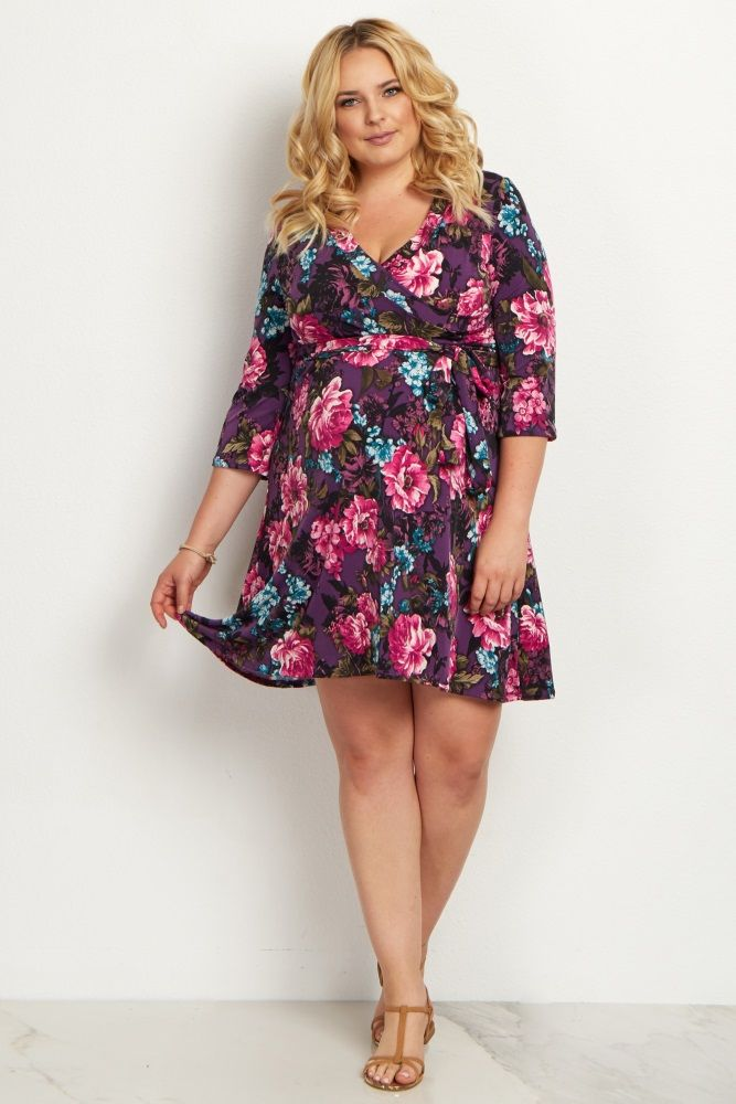 630f23431cb A gorgeous maternity wrap dress you can wear during and after your pregnancy.  A pretty floral print is just in time for spring and a flattering  v-neckline ...