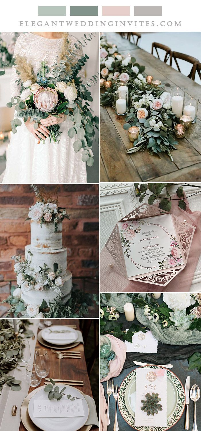 6 Beautiful Wedding Colors With Neutral Green Matching Invitations 6 beautiful wedding colors with neutral green