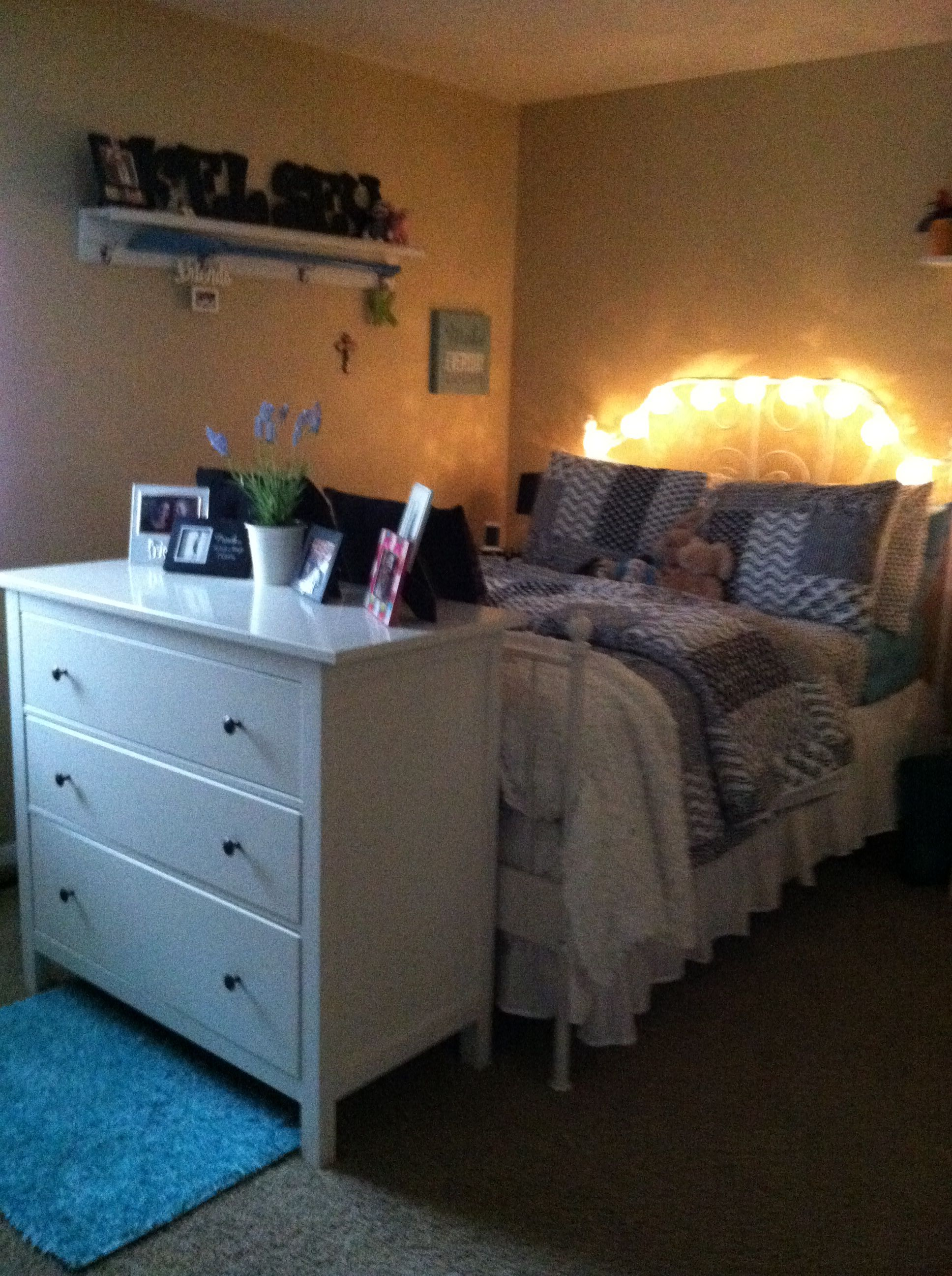 Put A Small Dresser At The End Of The Bed.