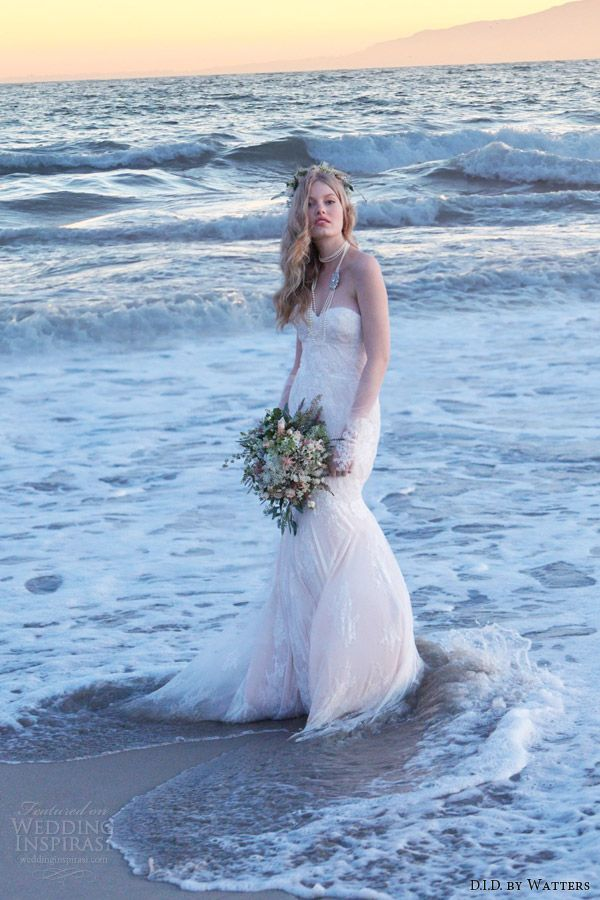 http://www.weddinginspirasi.com/2013/11/08/d-i-d-by-watters-spring-2014/ d i d by watters #wedding dresses spring 2014 blush strapless gown whitney back #weddings #weddingdress