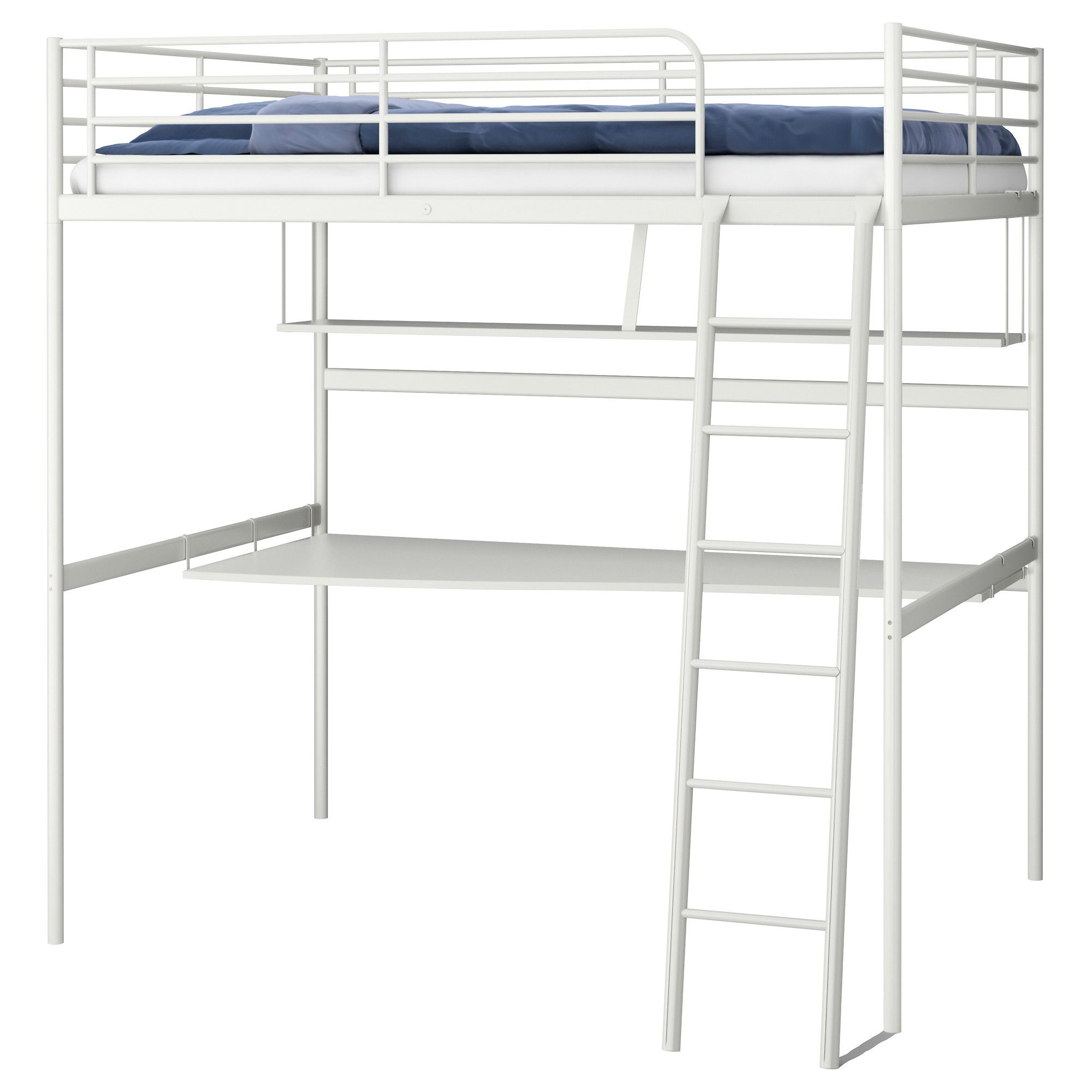Ikea Metal Loft Bed With Desk  Living Spaces Living
