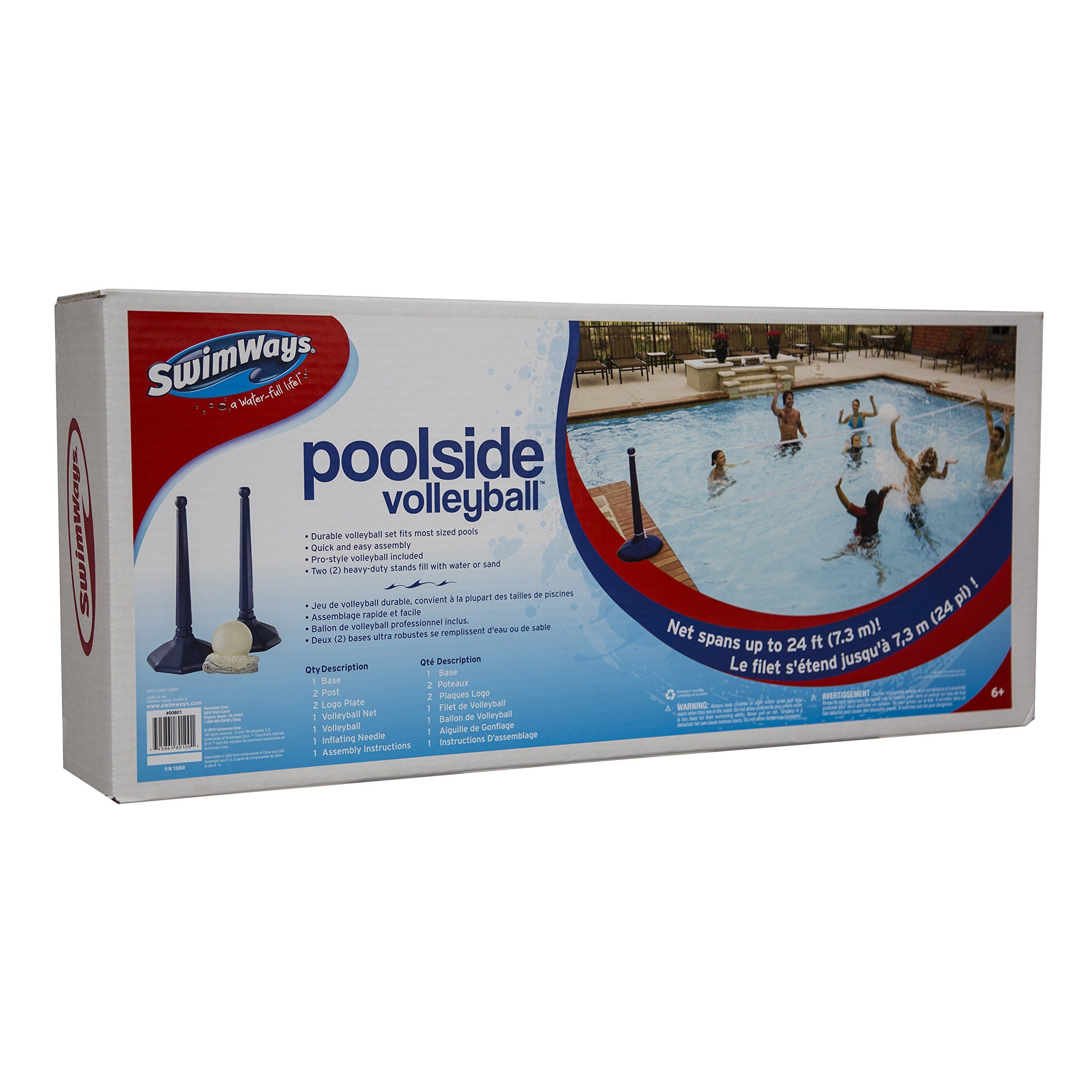 Swimways Poolside Volleyball Click Image To Review More Details It Is Amazon Affiliate Link Wate Volleyball Set Swimming Pools Inground Water Pool Games