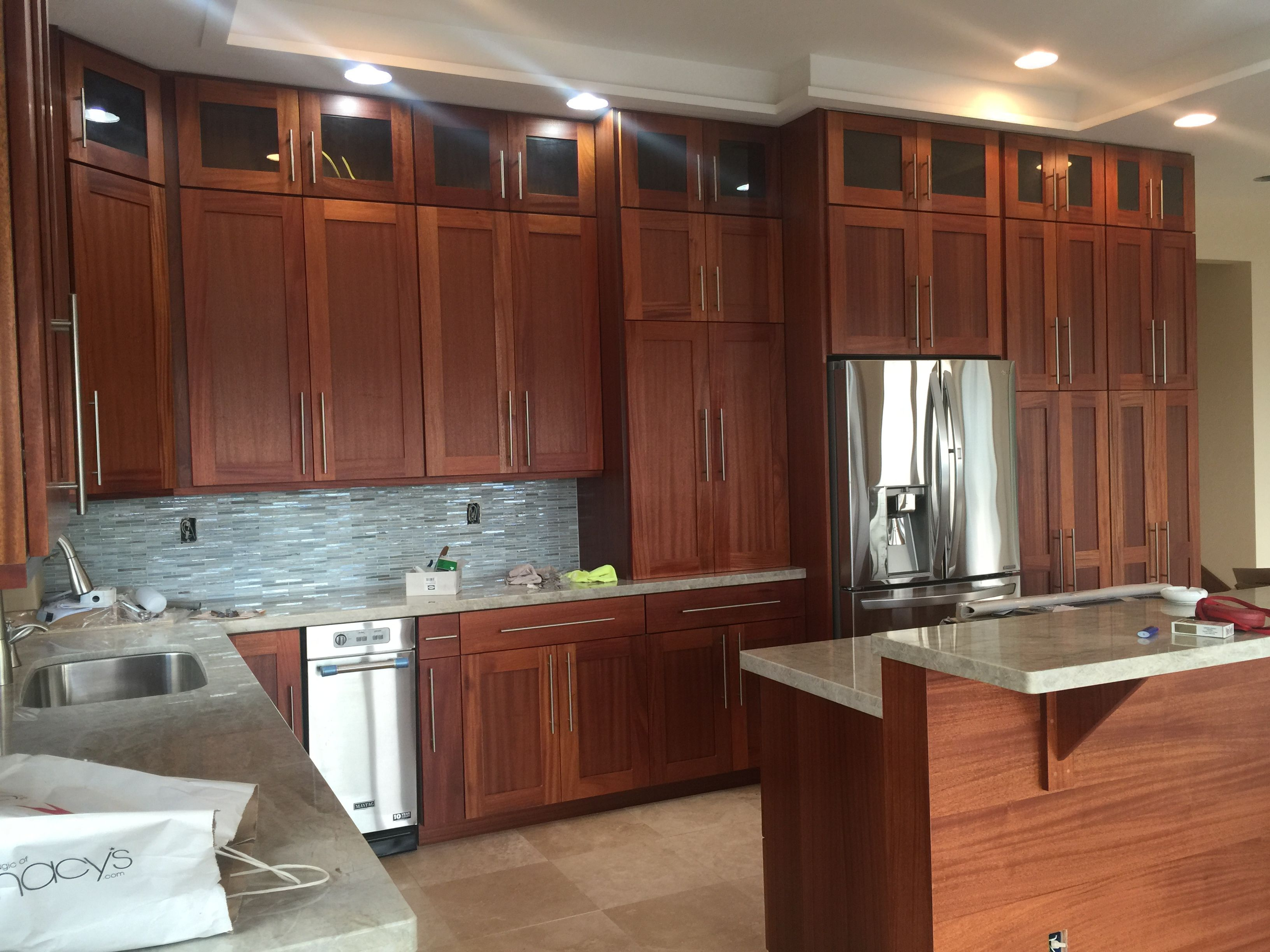 Mahogany Cabinets By Total Building Products Here In Hawaii Hertco Elsewhere Kitchen Cabinets Design Your Kitchen Cabinets And Countertops