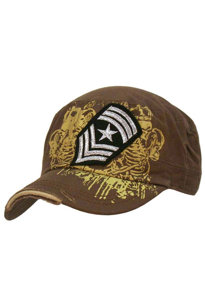 a3a1251a2890 Military Cadet Cap Hat With Patch | Girly Baseball & Military Caps ...