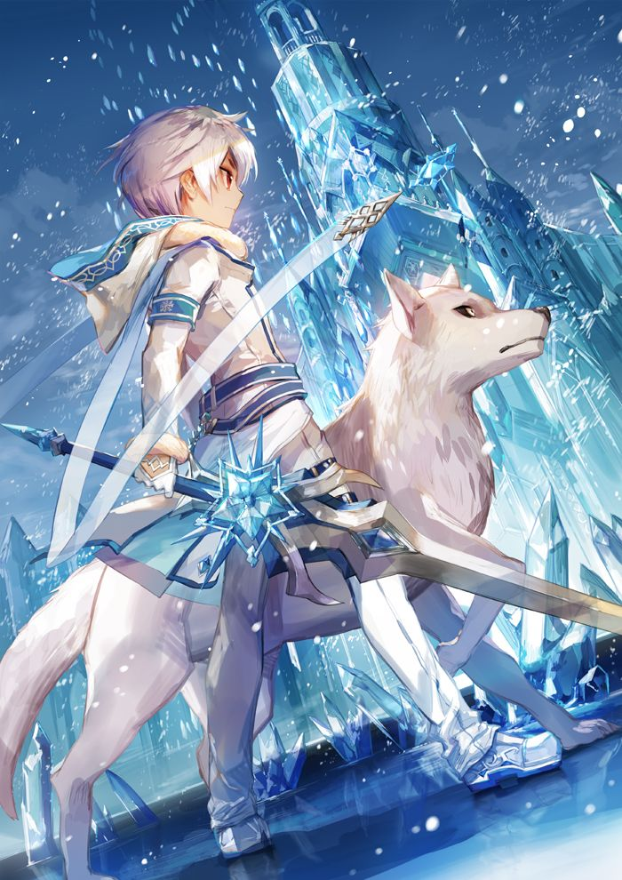 Photo of #Elsword Ice fangs and red-eyed wolf ――Illustration of Rochan ―― pixiv