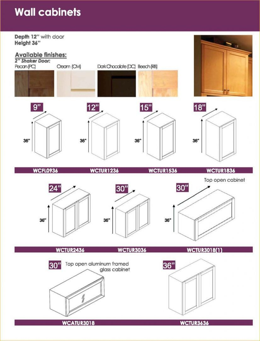 2019 Standard Kitchen Wall Cabinet Sizes - Apartment ...