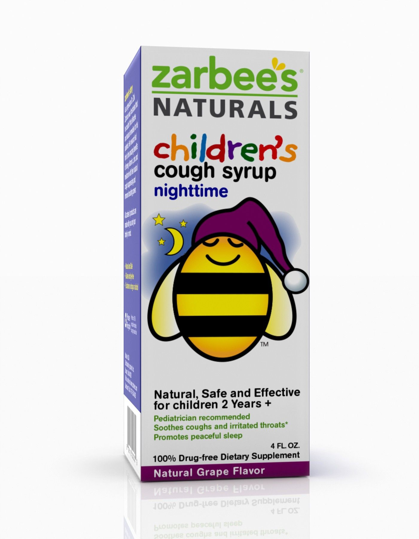 Zarbee S Naturals Children S Nighttime Syrup Grape Nighttime Coughing Nature Kids Cough Syrup