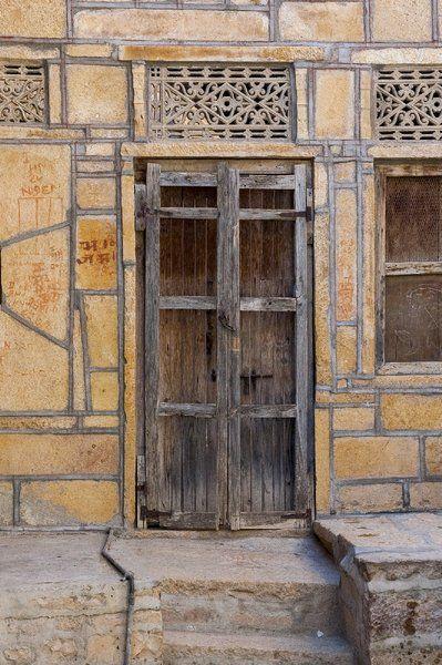 Wooden door by Jan de Vries on canvas, wallpaper and more