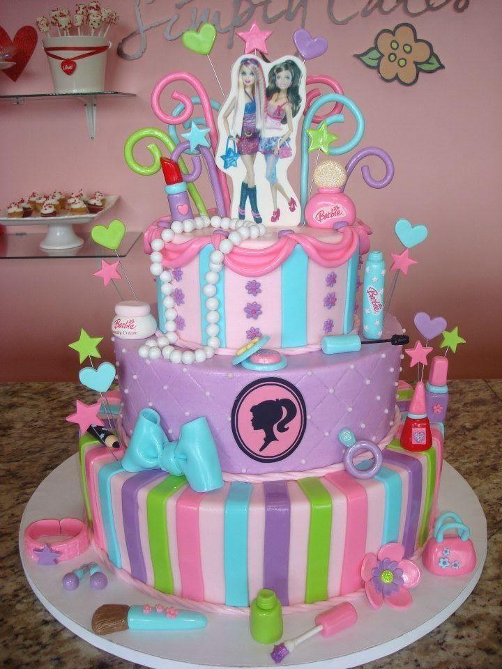 Magnificent Barbie Cake Birthdays Pinterest Barbie Birthday Cake Barbie Cake Funny Birthday Cards Online Benoljebrpdamsfinfo