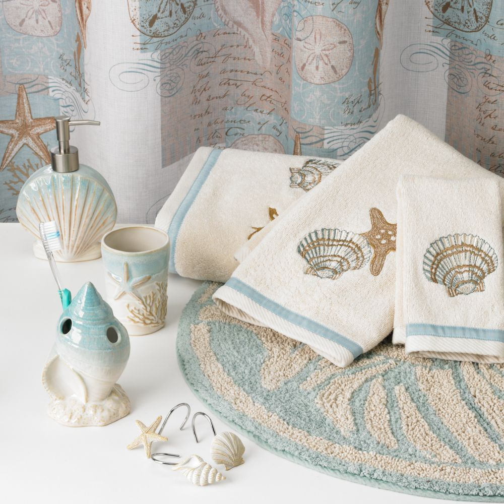 Inside A Tiny Florida Cottage Full Of Tropical Colors: Coastal Moonlight Bathroom Accessories Collection