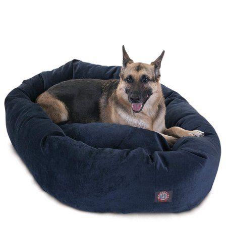 Majestic Pet Villa Velvet Bagel Dog Bed Machine Washable Navy Extra Large 52 X 35 X 11 Walmart Com Majestic Pet Pet Bed Dog Bed