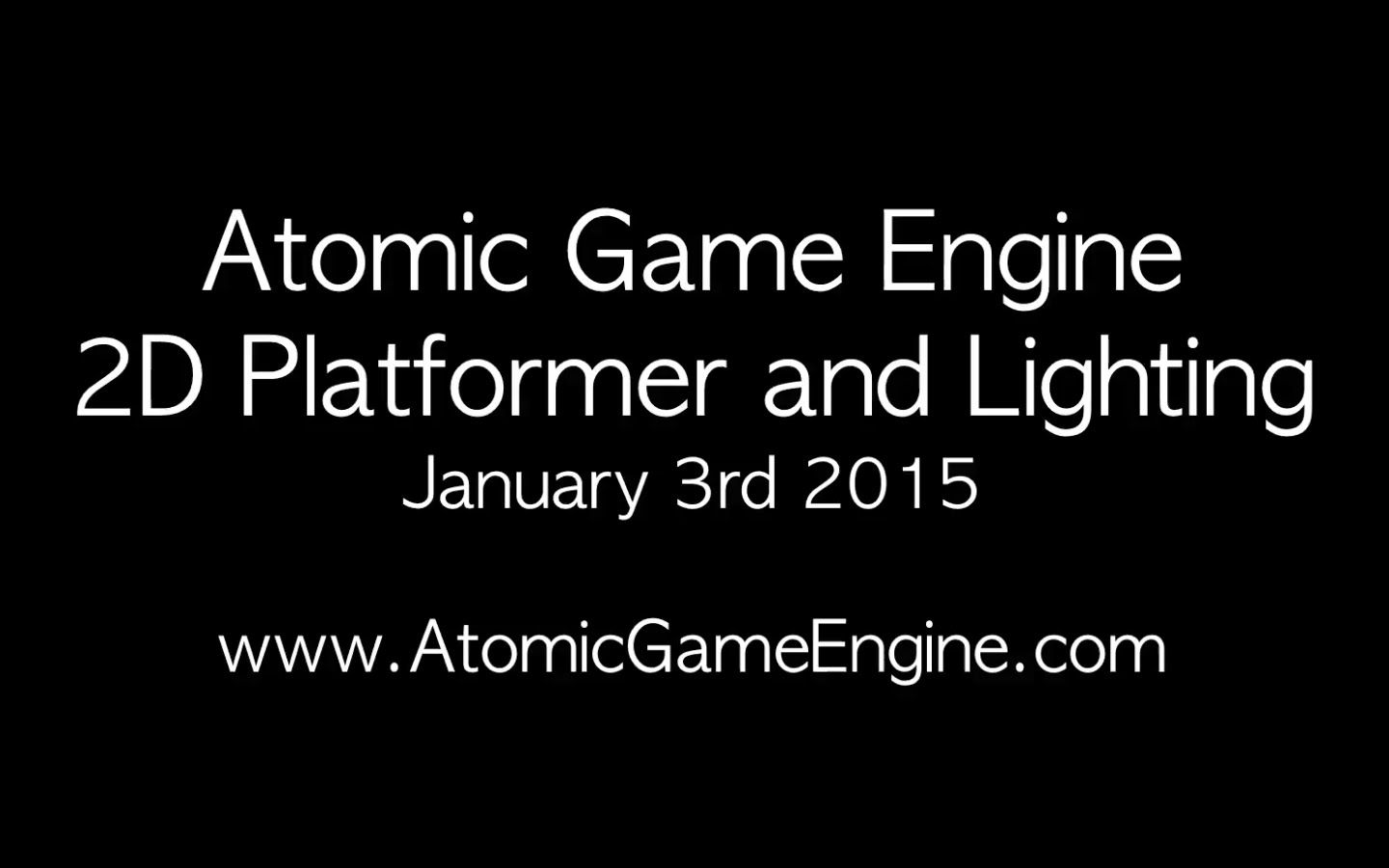 Atomic Game Engine - 2D Platformer & Lighting | Game