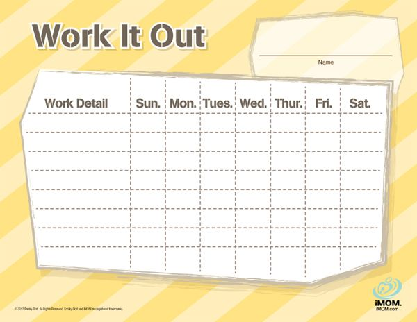 Chore Chart for Teenage Boy http://imom.com/tools/get-organized ...