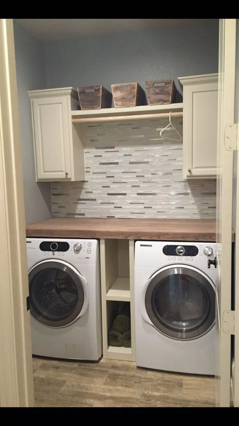 ✔51 beautiful and simple small laundry room decorating ideas to copy 34 images