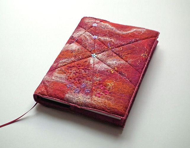 Notebook, Sketchbook, Journal, Diary Cover, A5, Handmade Felt,