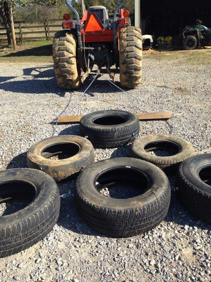 Arena Drag From Tires Arena Drag Yard Tractors Farm Equipment