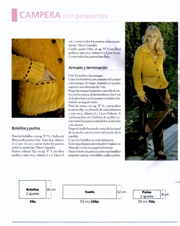patrones asgaya: CHAQUETA DE PUNTO PARA MUJER | Manualidades ...