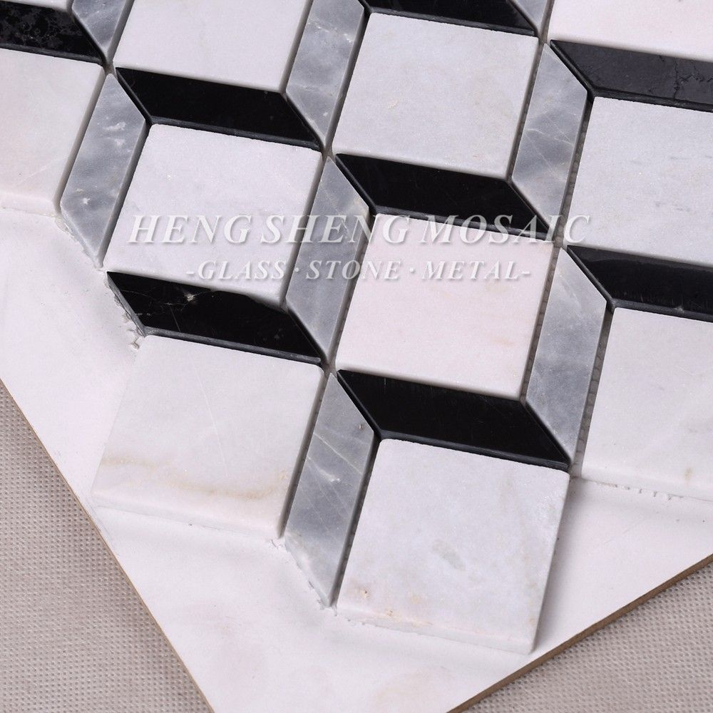 Rhombus ceramic mosaic tile kitchen bathroom pool saloon villa room wall tile