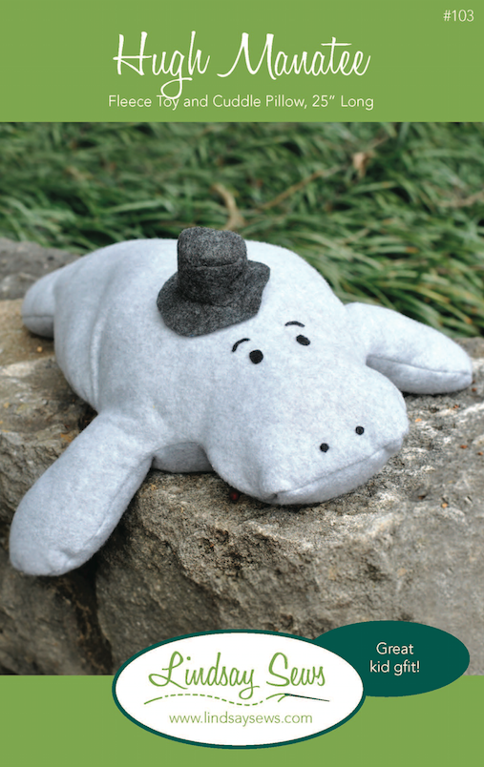 Hugh Manatee Stuffed Animal Pattern