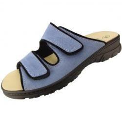 Algemare 6446 Wander-Pantoletten aus Leder für Damen Hellblau Größe 36 Algemare
